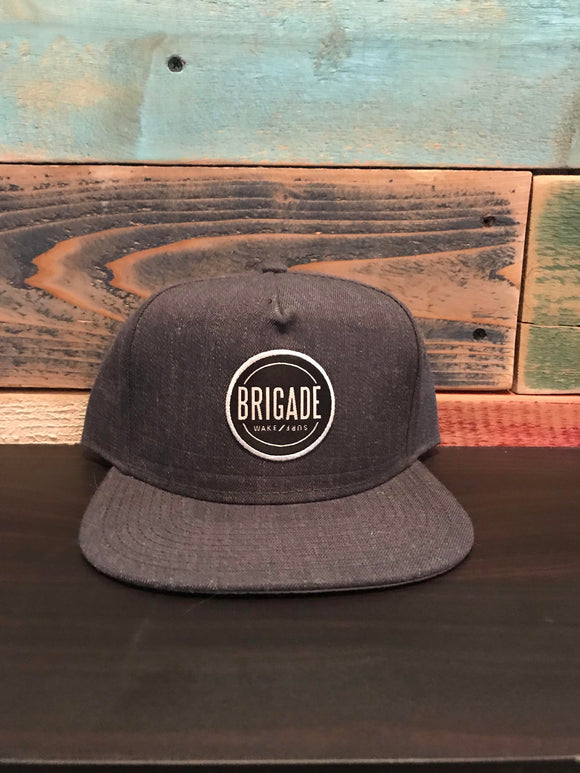Grey Snap Hat; Circle Patch