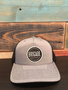 Black/Dark Grey Circle Patch Hat