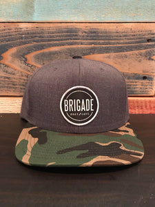 Grey/ Camo Bill Hat