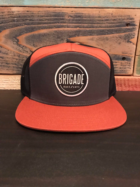 Trucker Tri Color Circle Patch Hat
