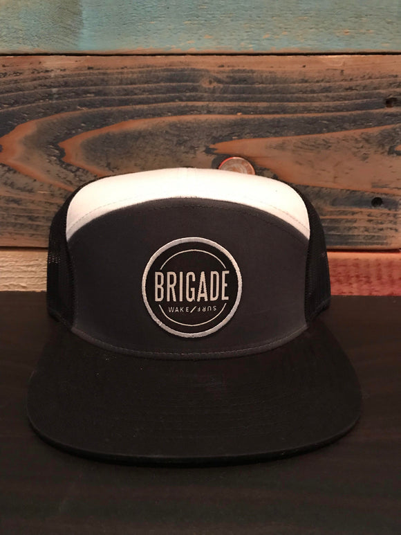 Tri Color Trucker Circle Patch Hat