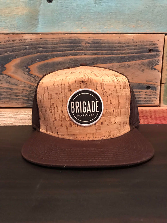 Brown Cork Trucker Circle Patch Hat