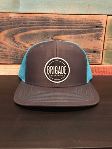 Trucker Teal/Light Grey Circle Patch Hat