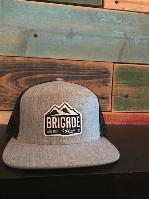 Mountain Patch: Grey Trucker Hat