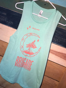 Women's: Teal Moon Island Tank