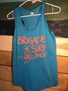 Womens; Light blue Surf Shop Tanks