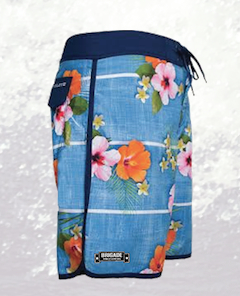 Blue Hibiscus Board Shorts