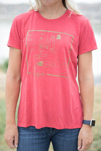 Red Surf This Ladies T