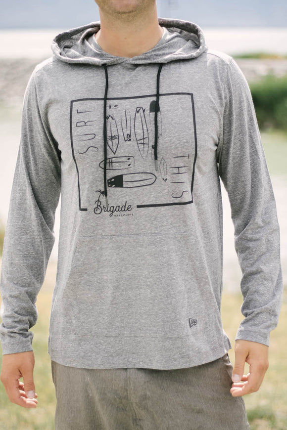 Grey Long Sleeve Surf This T