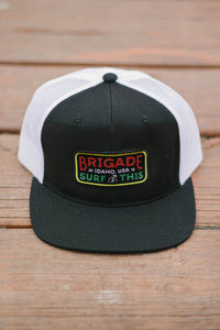 Black/ White Trucker Rasta Idaho Patch