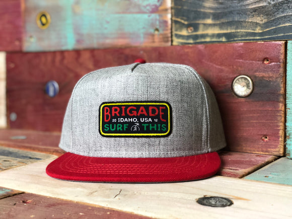 The Rasta Red Classic EST. 2012 Brigade Hat