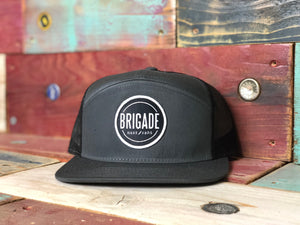 The Grey/Black 7 Panel Hat