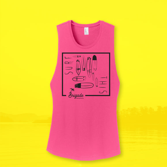 Women's: Pink Surf This Tank