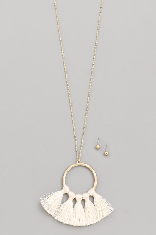 Circle Fan Necklace Set