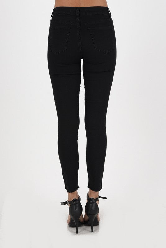 Clara High Rise Slit Skinny Crop Jeans