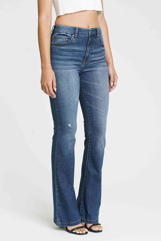 Aliyah High Rise Flare Jeans