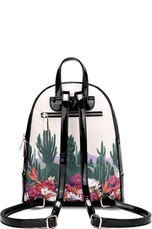 Frida Patent Leather BackPack