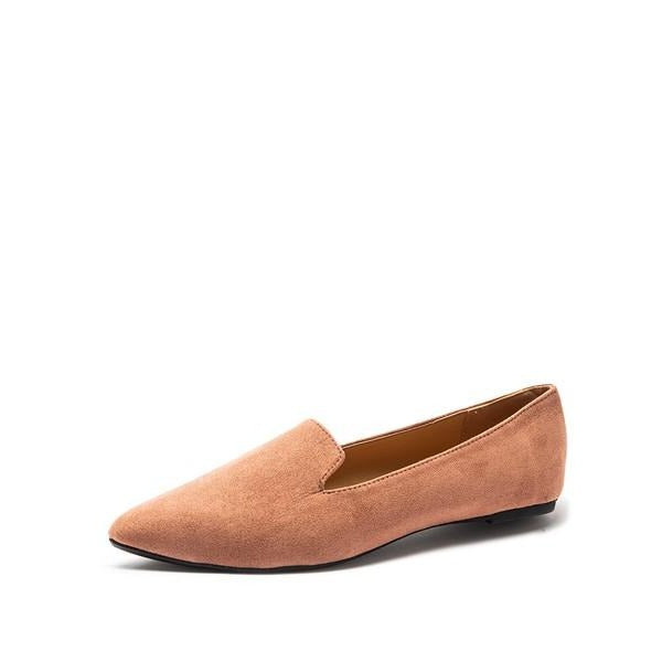Zoom Suede Pointy Flat