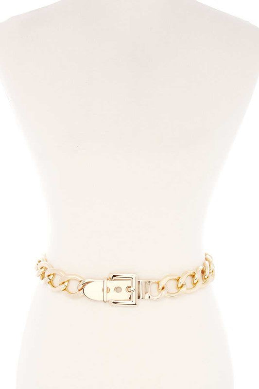 Gold Chain Buckle Belt