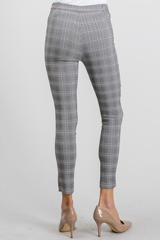 Jacquard Buckle Straight Pant
