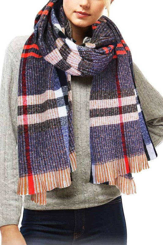 Plaid Check Modern Scarf