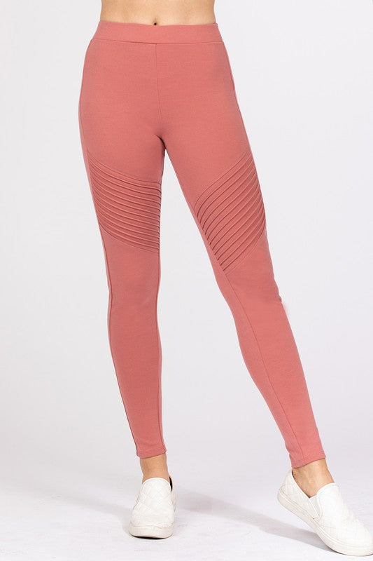 Pintuck Detail Ponte Legging