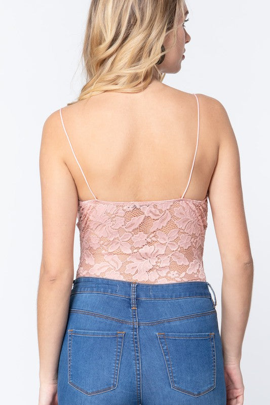 Stretch Lace Cami Bodysuit