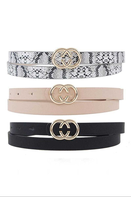 CC Buckle 3pc Set Belt