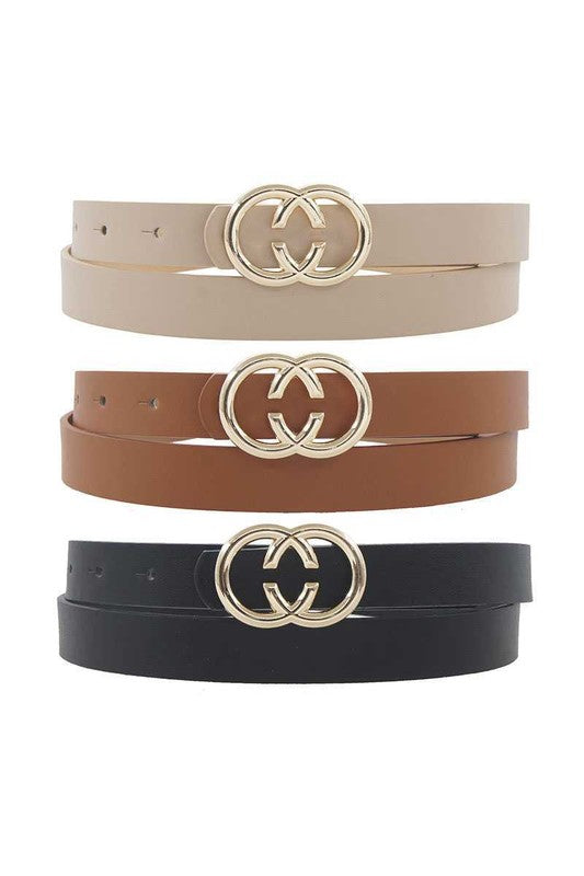 CC Buckle Trip Set Belt PLUS