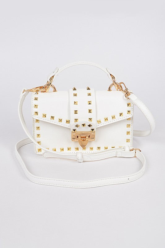 Studded Top Handle Bag