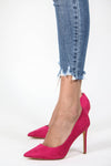 Aleena Suede Point Heel Fuchsia