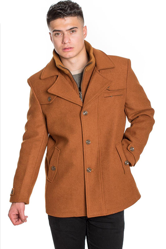 Collared Button Front Peacoat