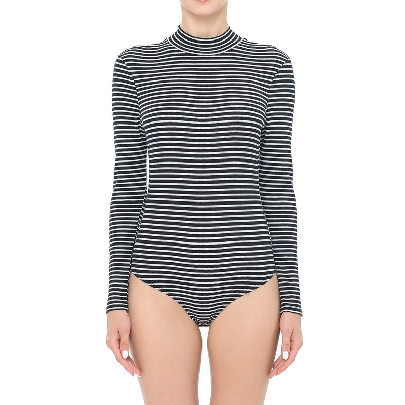 Stripe Turtle Neck Bodysuit