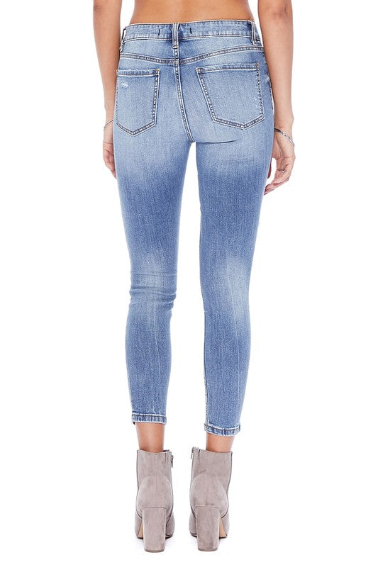 Clara High Rise Busted Out Knee Skinny Jean Back