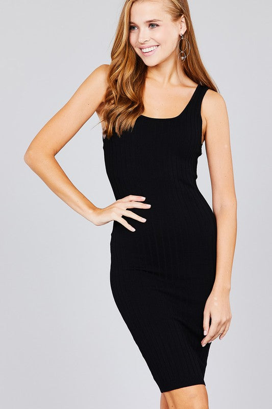 Scoop Neck Fitted Tank Dress