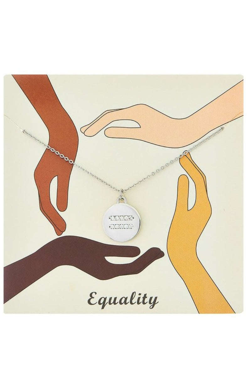 Equality Pendant Necklace