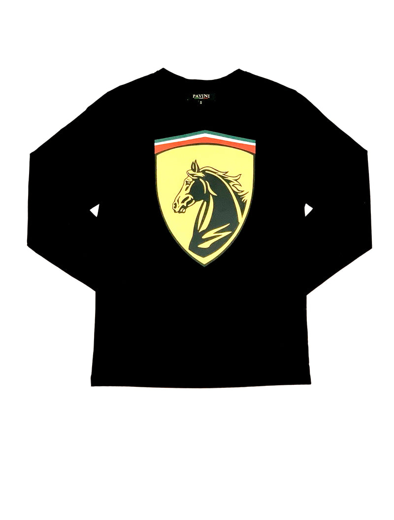 Stallion Crest Long Sleeve T-Shirt