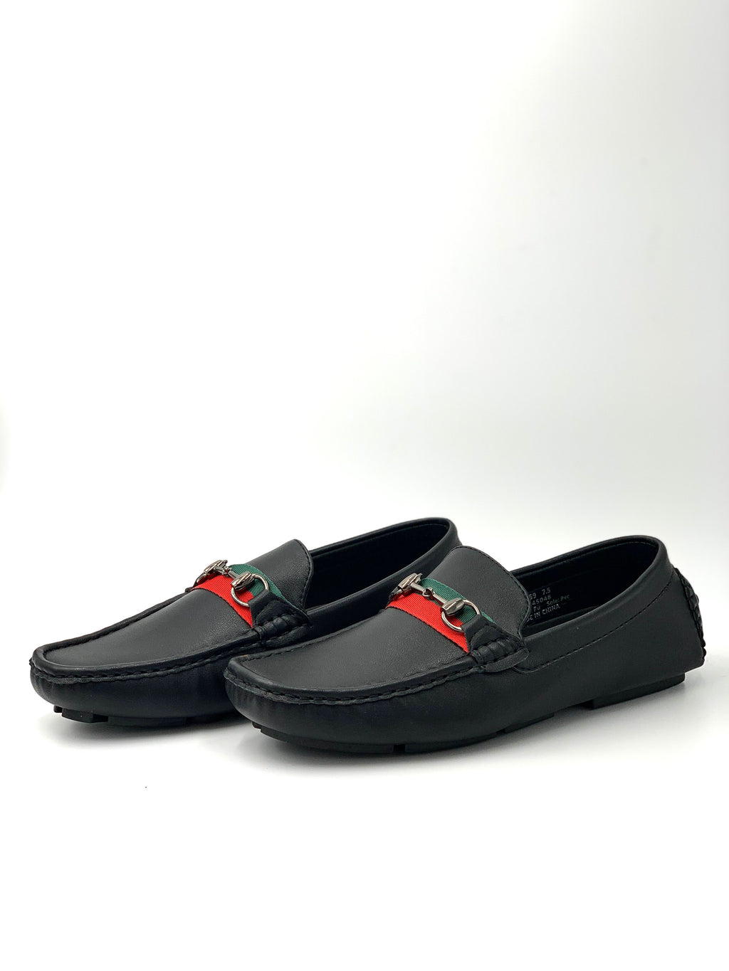 Double Stripe Horsebit Buckle Driving Loafer