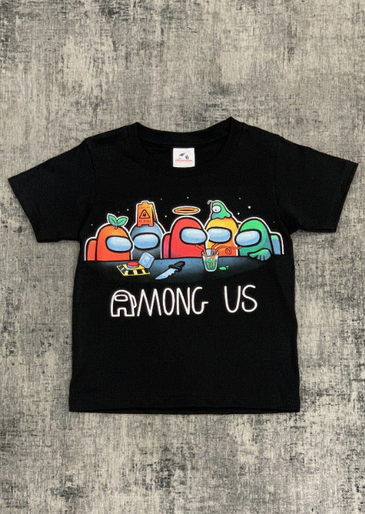 Among Us Graphic T-Shirt Black