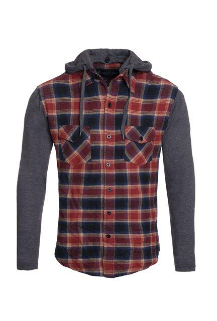 Long Sleeve Flannel with Detachable Hood