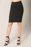 Luxe Bandage Pencil Skirt Black Front