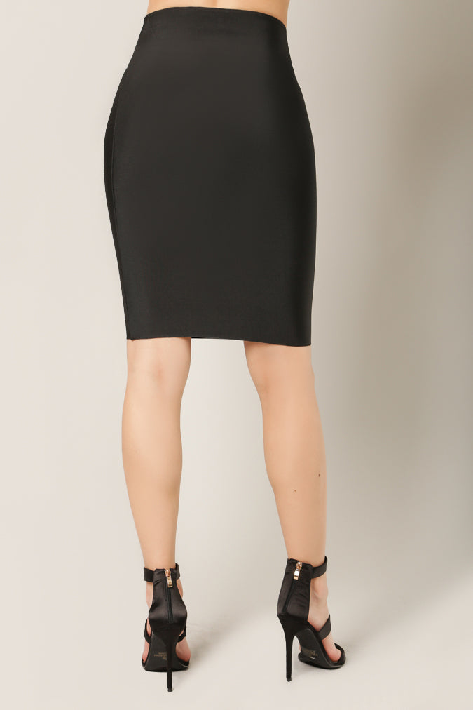 Luxe Bandage Pencil Skirt Black Back