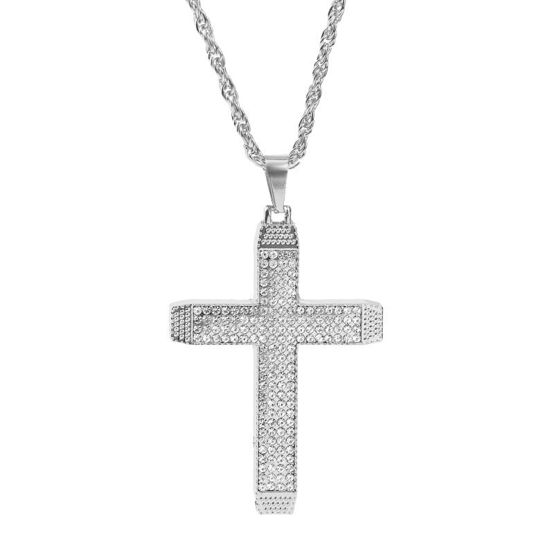 Crystal Cross Pendant Necklace