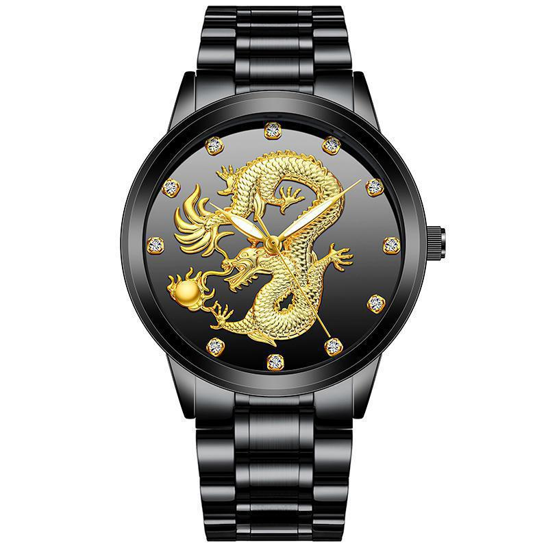 Embossed Dragon Watch