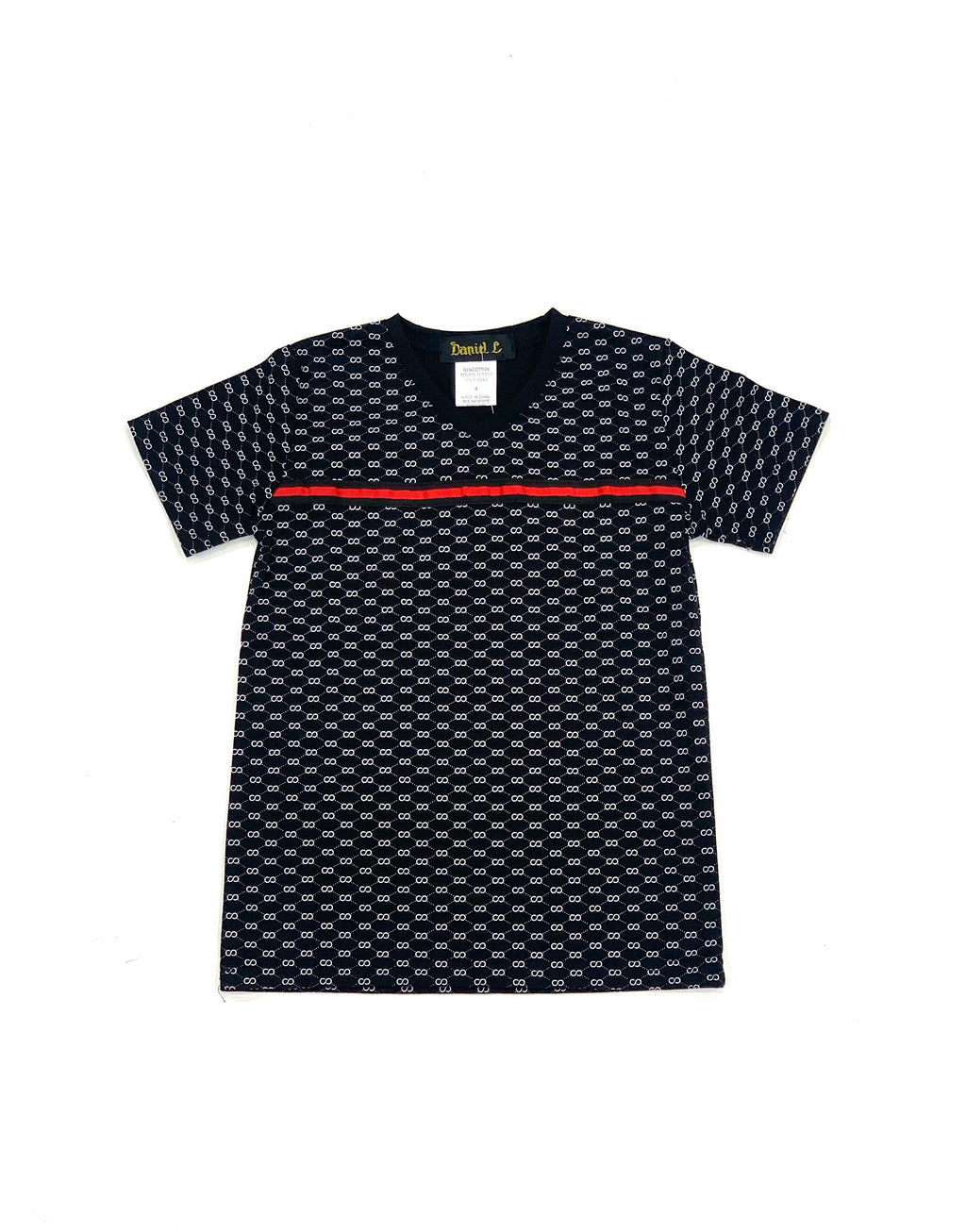 All Over Double Circle V-Neck T-Shirt
