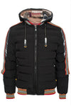 Tie Front Stripe Knit Crop Cardigan