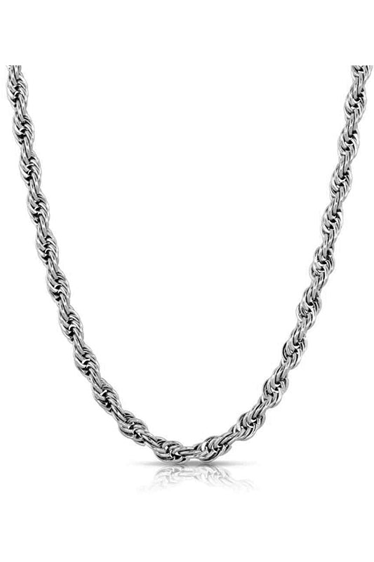 Rope Chain Necklace White Gold
