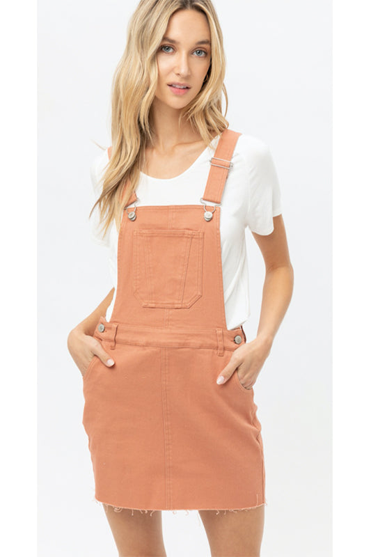 Denim Pocket Overall Dress