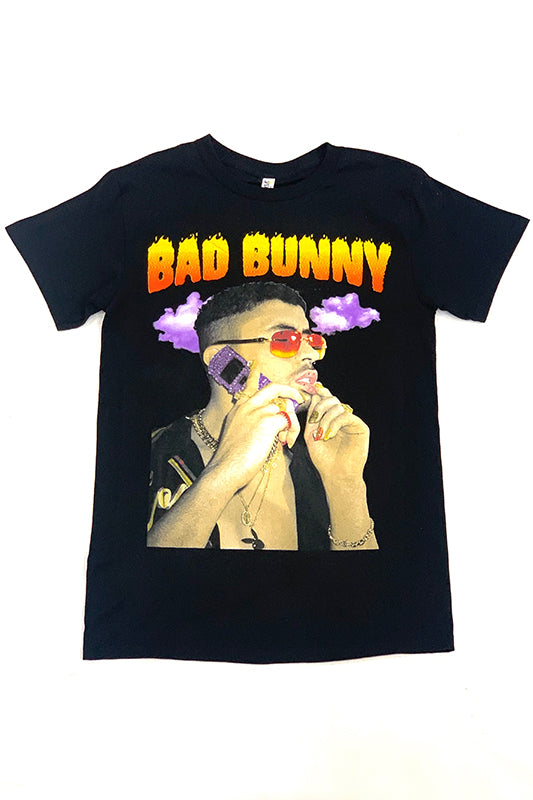 Colorful Bad Bunny On Cell Graphic T-Shirt