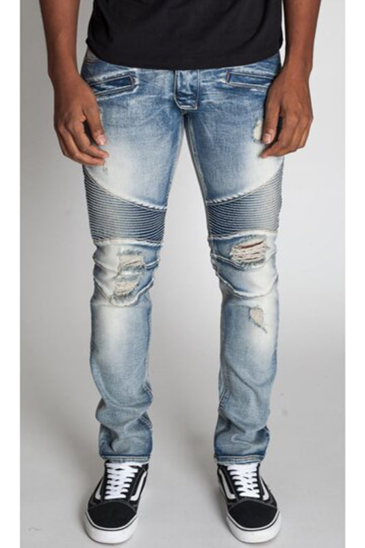 Destroyed Moto Jeans